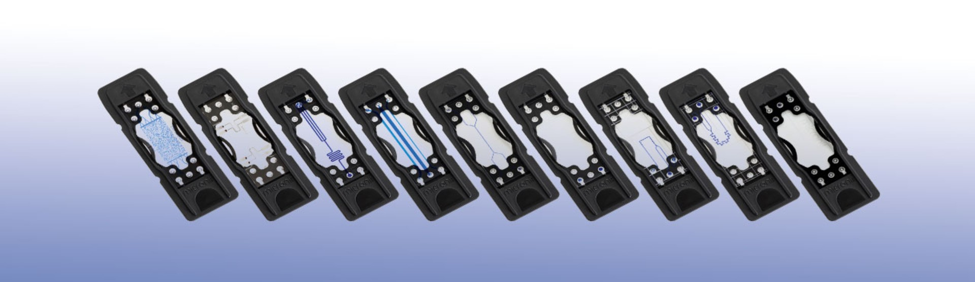 Selection of microfluidic chips available in Micronit's web store