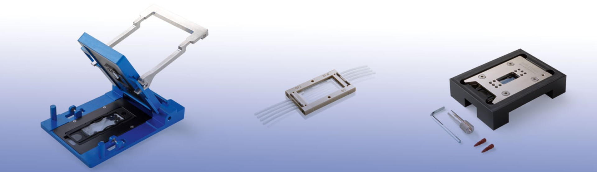 Overview of Micronit's chip holders available in the web store